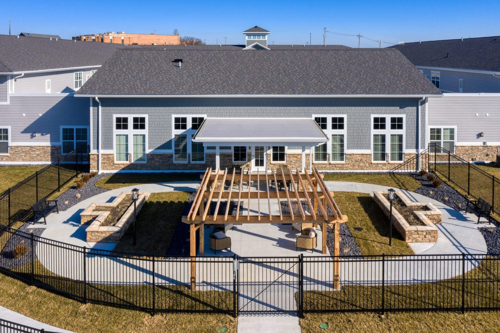 Gated outdoor space at Cedarhurst Arnold