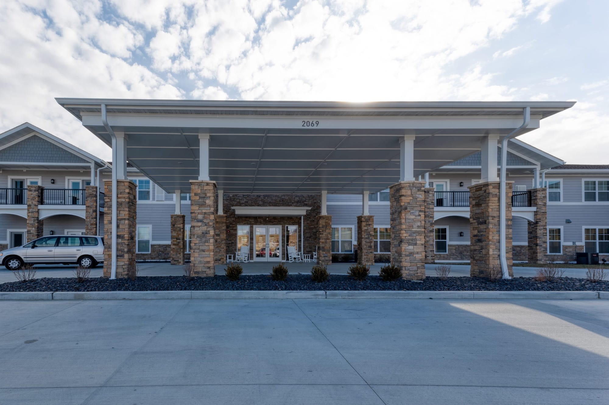 Community entrance featuring drive-up access for residents and guests