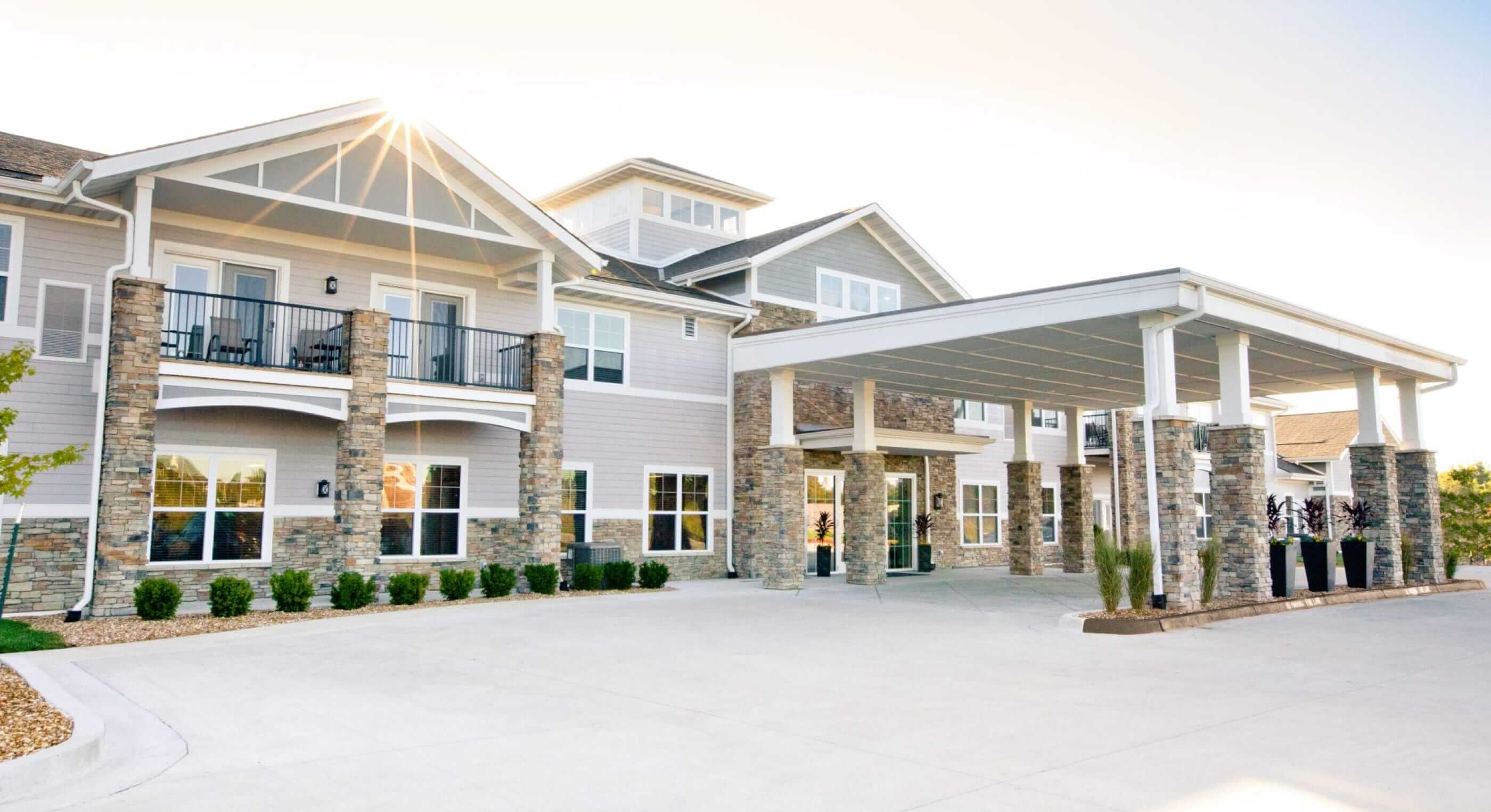 The Facade of a Brand-New Senior Living Community in Frankfort, Illinois